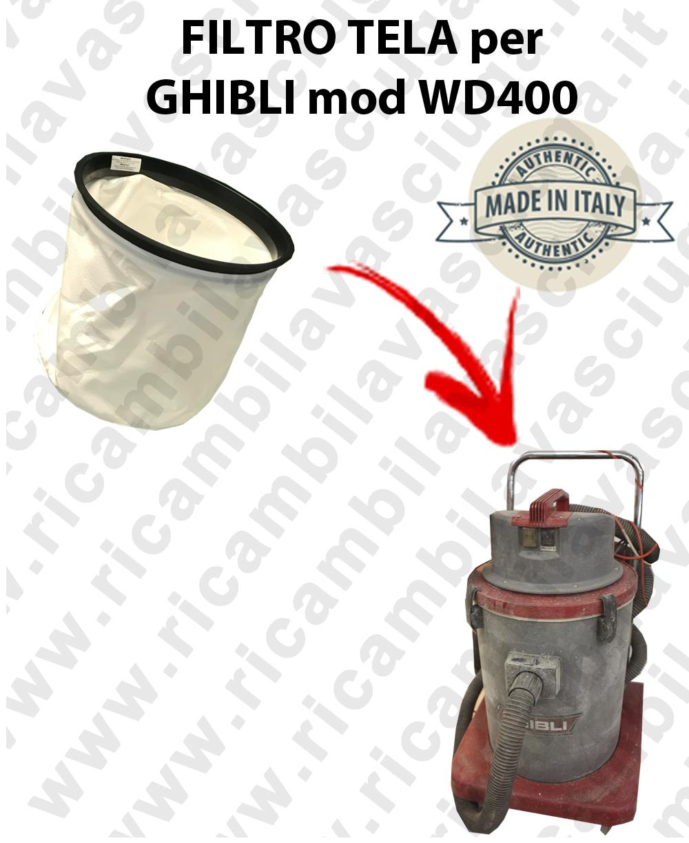 Canvas filter for vacuum cleaner GHIBLI model WD400