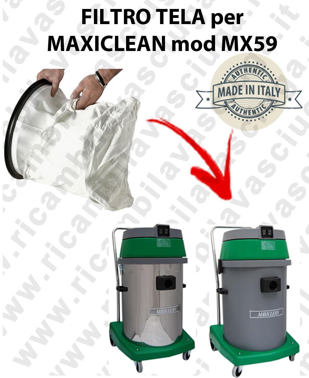 NYLON filter bag cod: 3001220 for vacuum cleaner MAXICLEAN model MX59