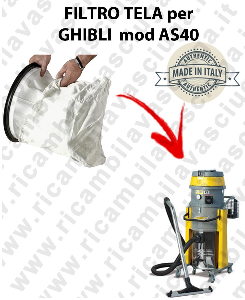 NYLON filter bag cod: 3001220 for vacuum cleaner GHIBLI model AS40