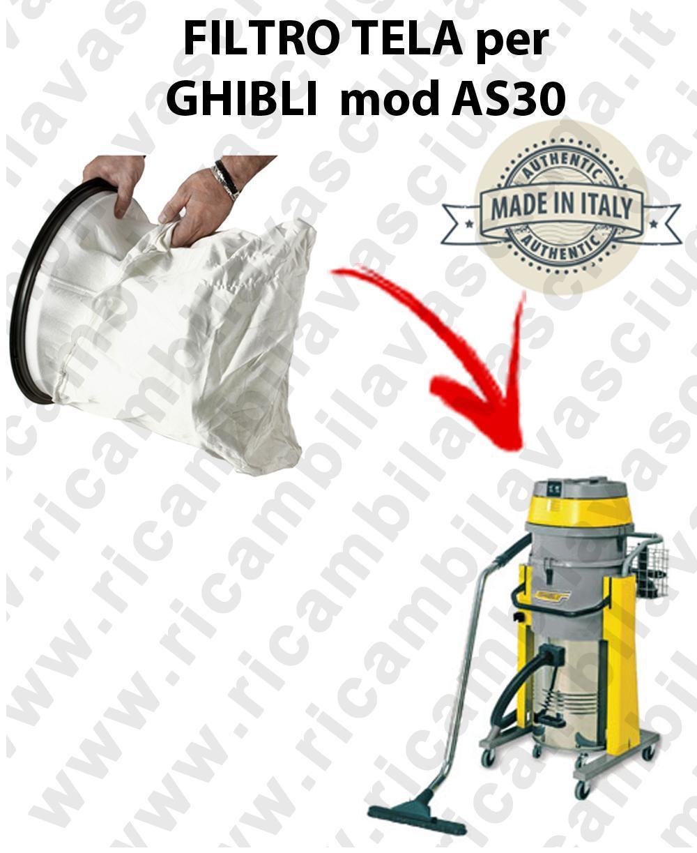 NYLON filter bag cod: 3001220 for vacuum cleaner GHIBLI model AS30