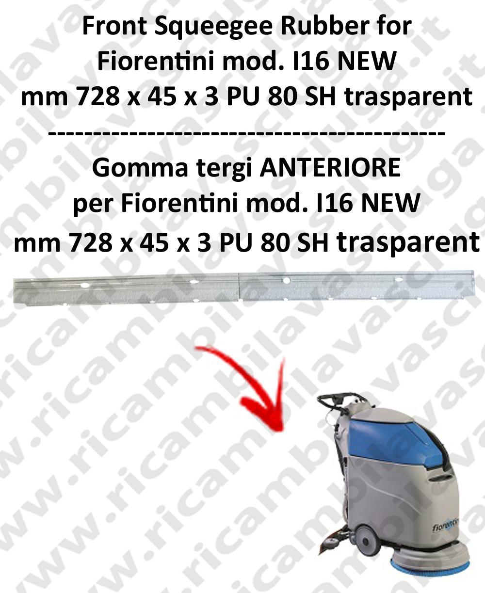 I16 NEW squeegee rubber front for scrubber dryer  FIORENTINI