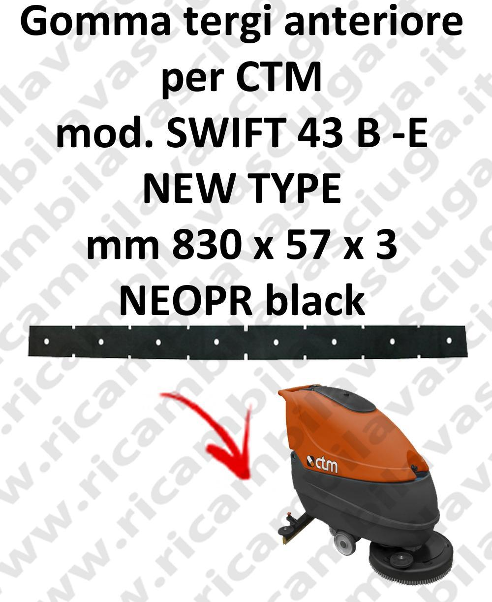 SWIFT 43 B - E new type squeegee rubber scrubber dryer front for CTM