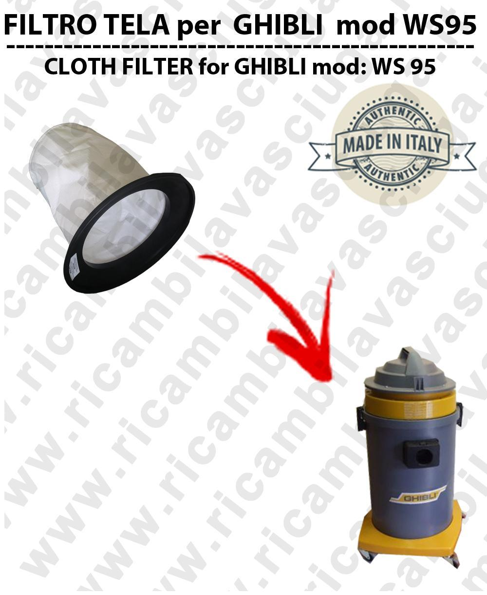 Canvas filter for vacuum cleaner GHIBLI model WS95