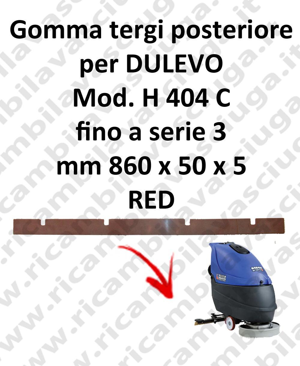Squeegee rubber back for scrubber dryer DULEVO model H 404 C till serie 3