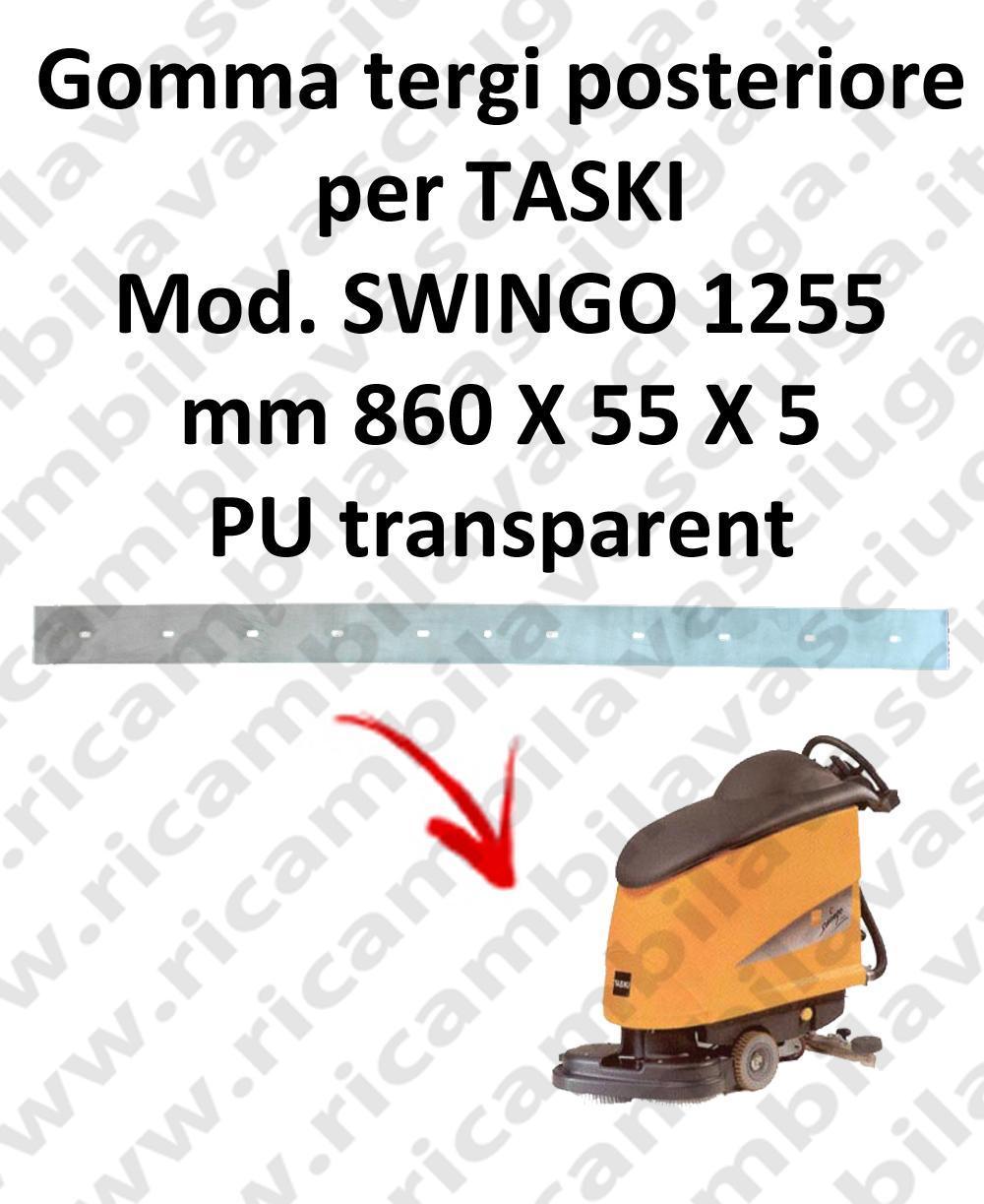 Squeegee rubber back for scrubber dryer TASKI model SWINGO 1255