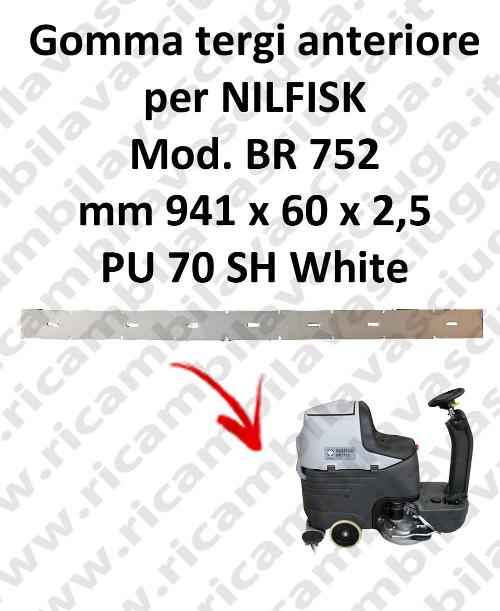 Front Squeegee rubber for scrubber dryer NILFISK model BR 752
