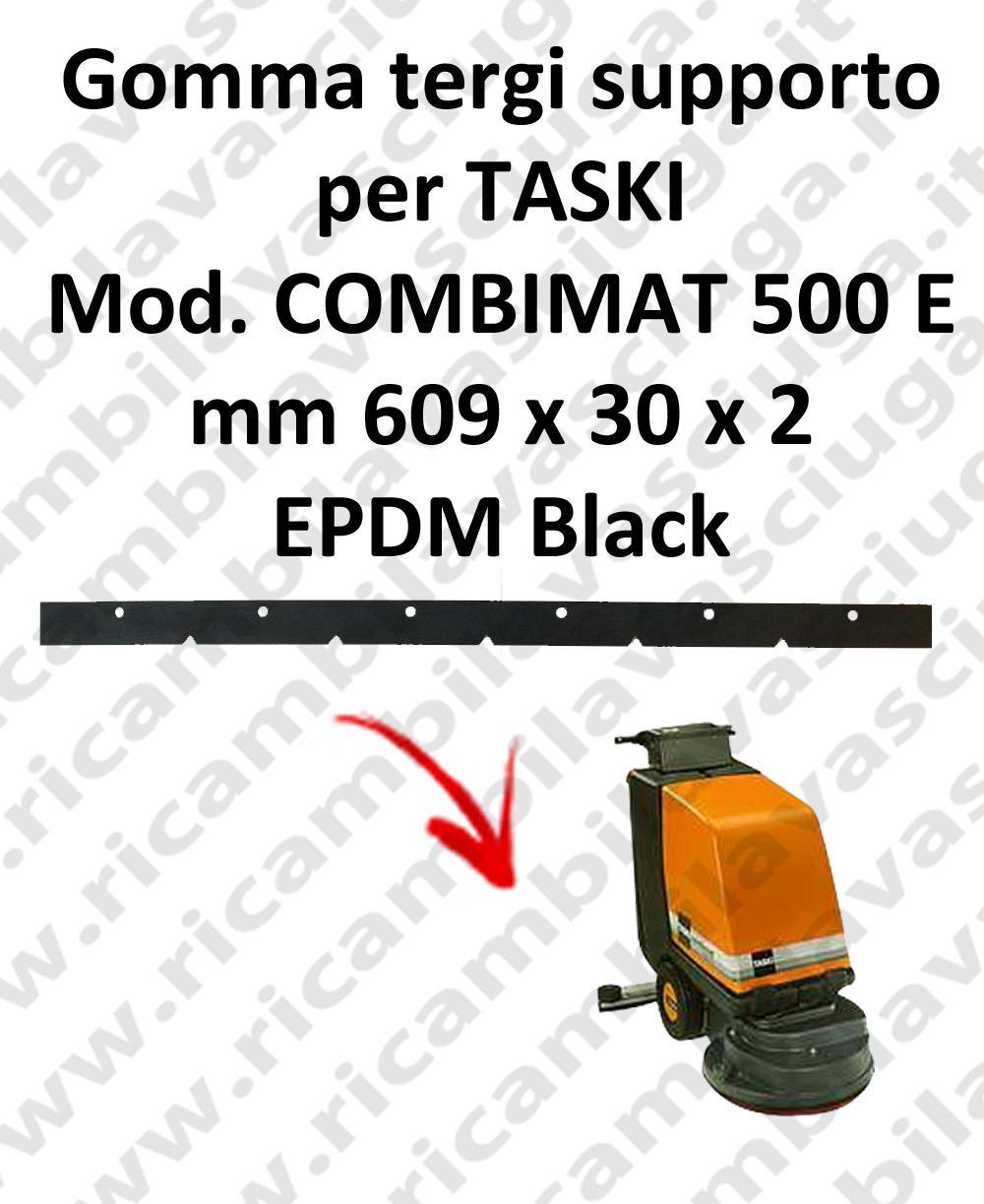 Squeegee rubber support for scrubber dryer TASKI model COMBIMAT 500 E