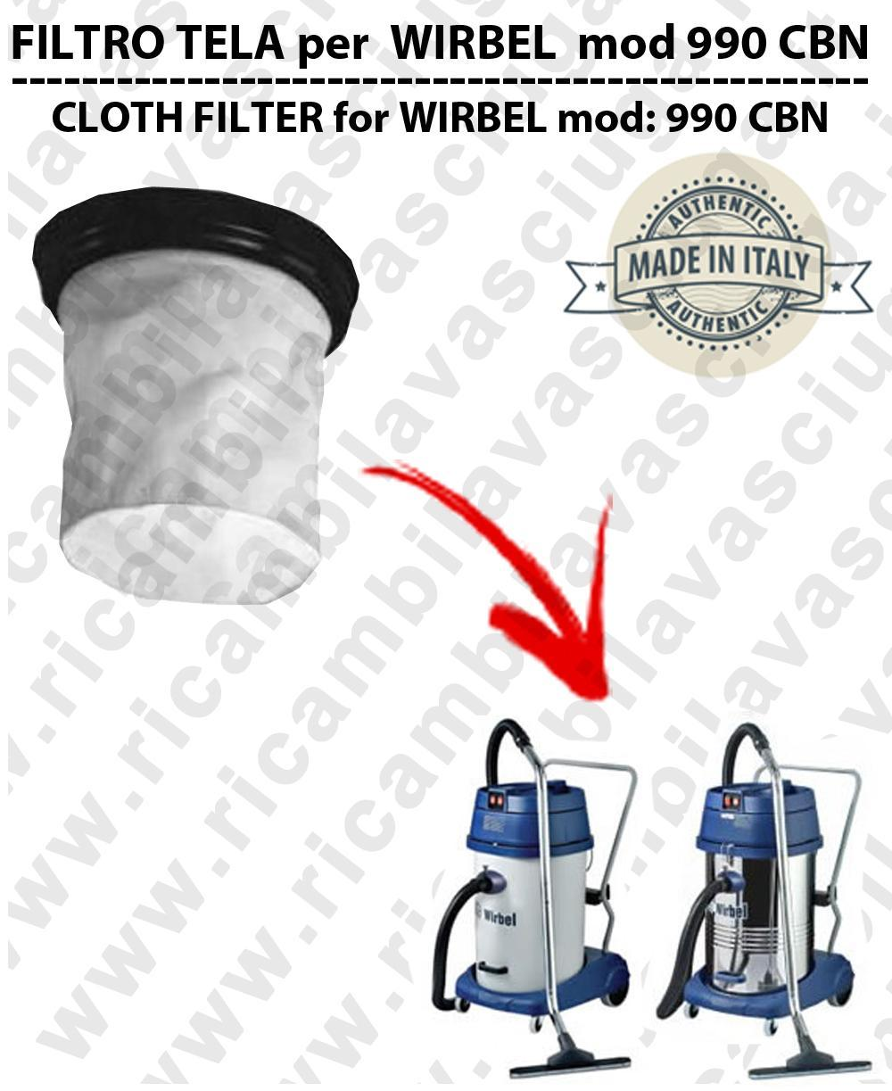 Canvas filter for vacuum cleaner WIRBEL model 990 CBN