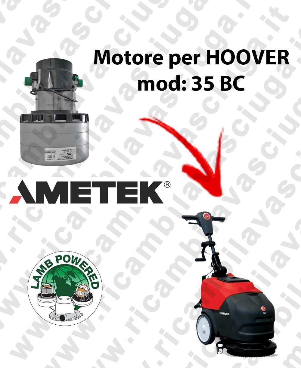 35 BC Lamb Ametek vacuum motor di aspirazione for scrubber dryer HOOVER