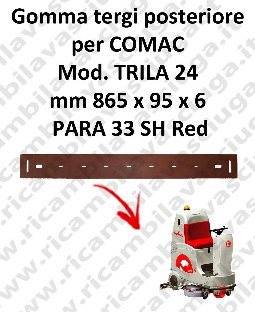 TRIPLA 24 B squeegee rubber back Comac