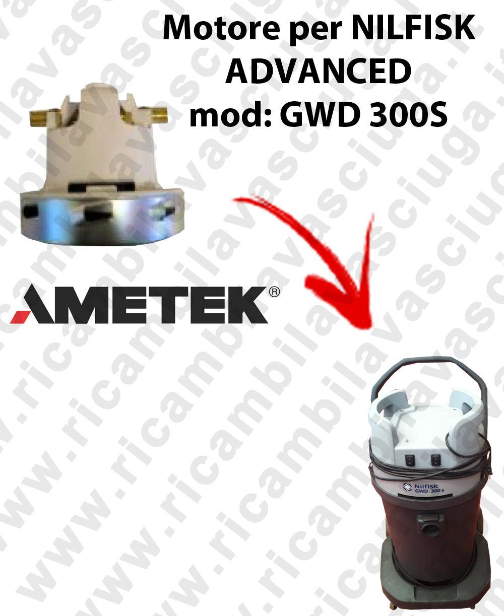 GWD 300 S Motore de aspiración AMETEK para aspiradora NILFISK ADVANCE