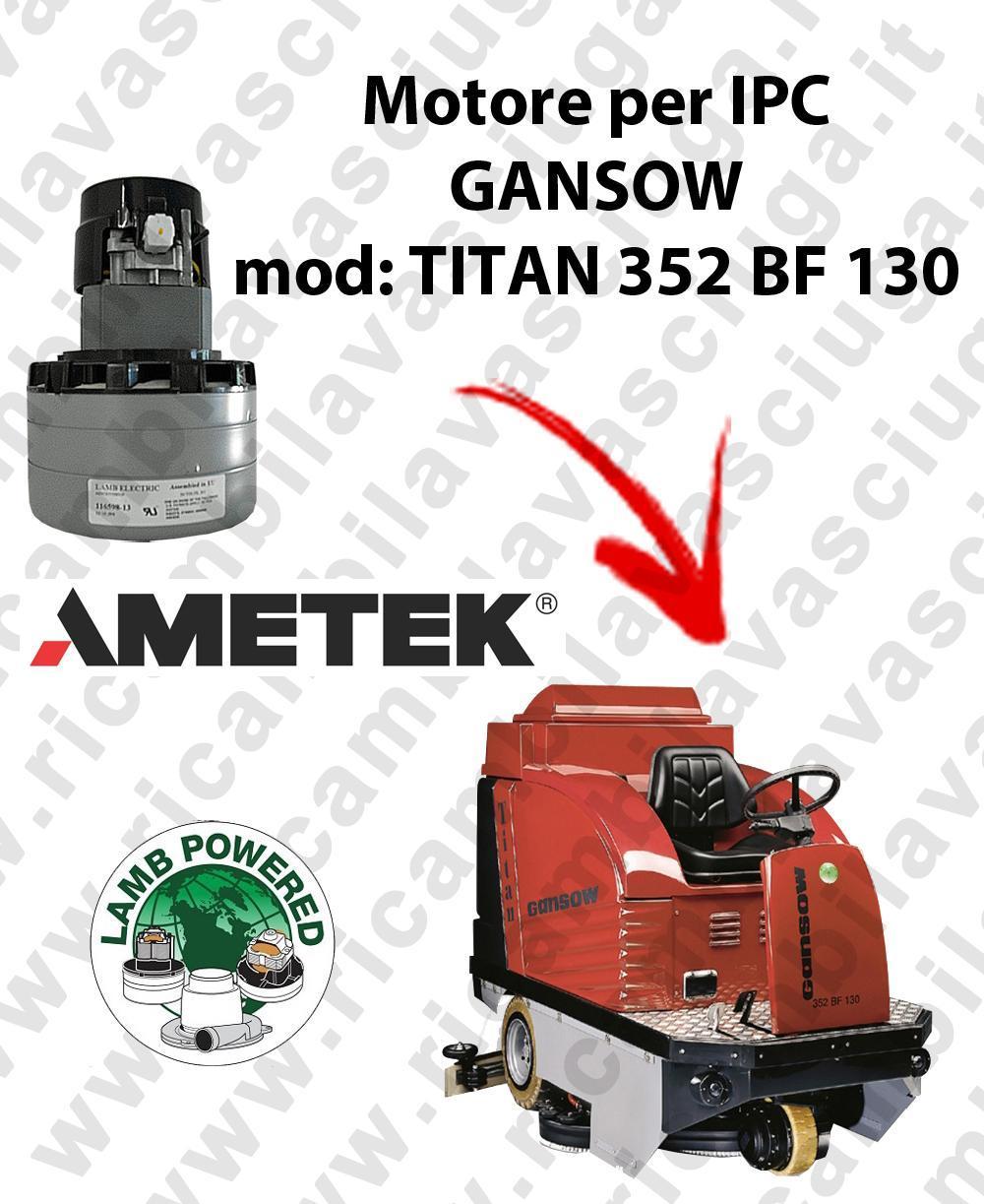 TITAN 352 BF 100 Motore de aspiración LAMB AMETEK para fregadora IPC GANSOW