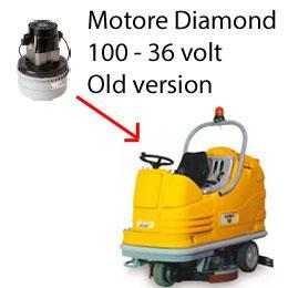 Diamond 100 - 36 volt Motore de aspiración AMETEK fregadoras Adiatek OLD Version