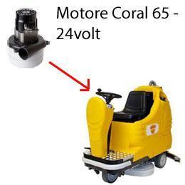 Coral 65 - 24 volt Motore de aspiración AMETEK fregadoras Adiatek