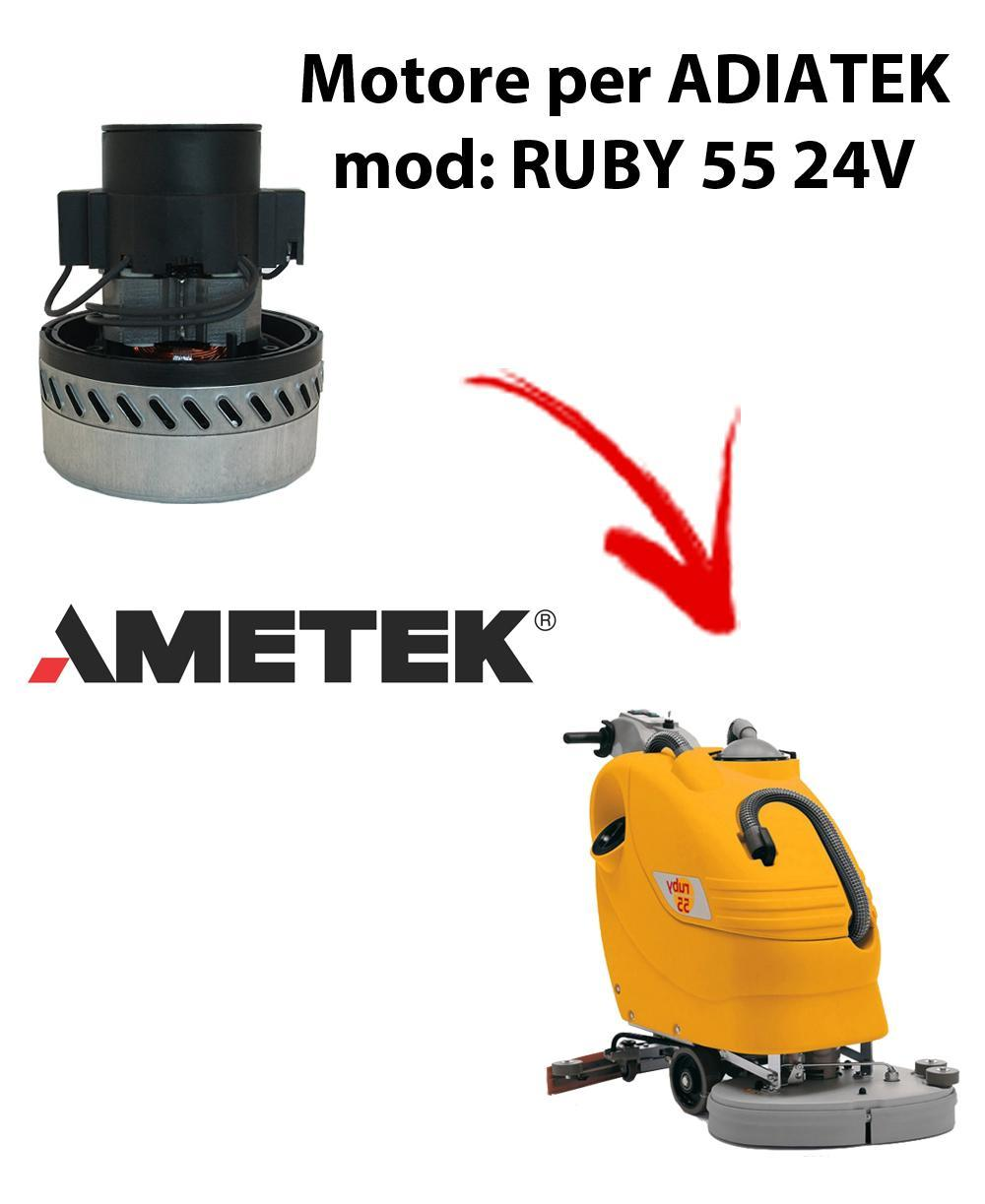 RUBY 55 24 volt. Motore de aspiración Ametek Italia  para fregadora Adiatek