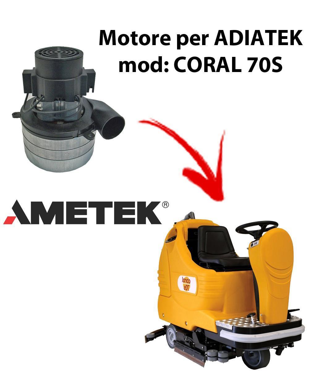Coral 70S Motores de aspiración Ametek Italia  para fregadora Adiatek