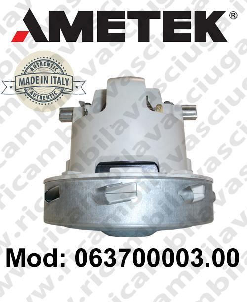 Motore de aspiración 063700003.00 AMETEK ITALIA para fregadora y aspiradora