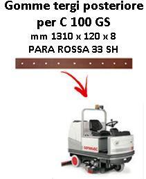 C 100 GS goma de secado trasero Comac