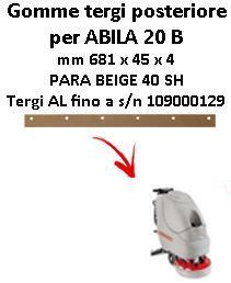 ABILA 20 B goma de secado trasero Comac