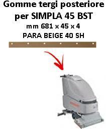 SIMPLA 45 BST goma de secado trasero Comac