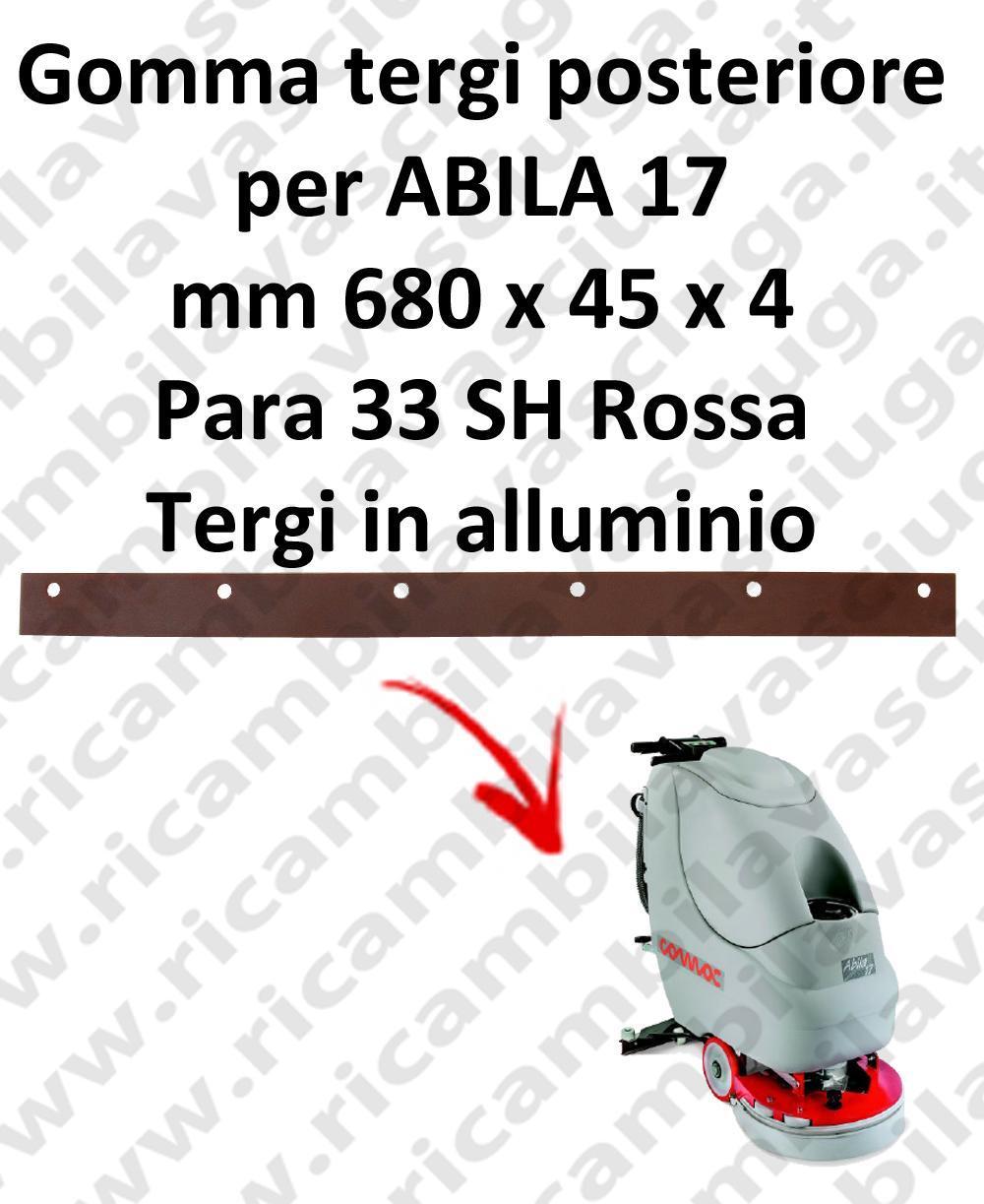 ABILA 17 goma de secado trasero para COMAC repuestos fregadoras squeegee