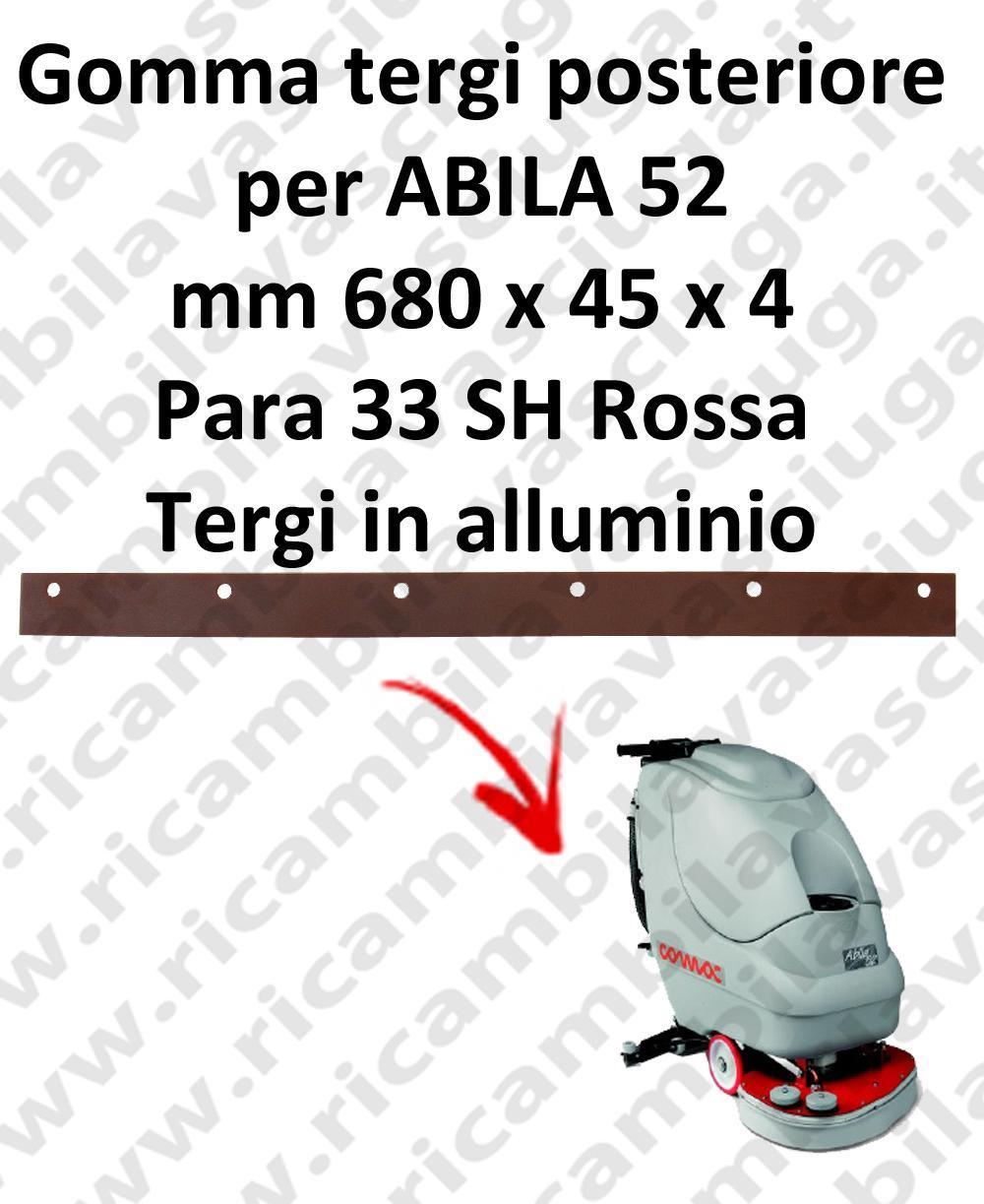 ABILA 52 goma de secado trasero para COMAC repuestos fregadoras squeegee