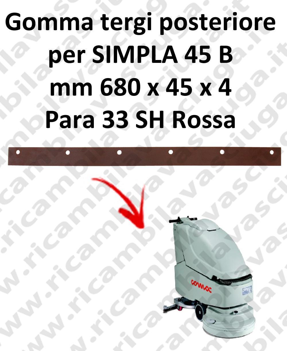 SIMPLA 45 B goma de secado trasero para COMAC repuestos fregadoras squeegee