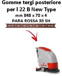 L 22 B New Type  goma de secado trasero Comac