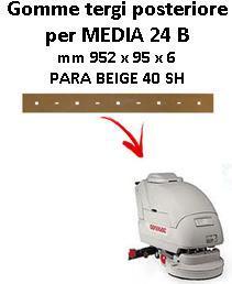 MEDIA 24 B goma de secado trasero Comac