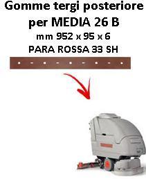 MEDIA 26 B goma de secado trasero Comac