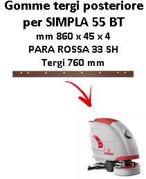 SIMPLA 55 BT  goma de secado trasero Comac
