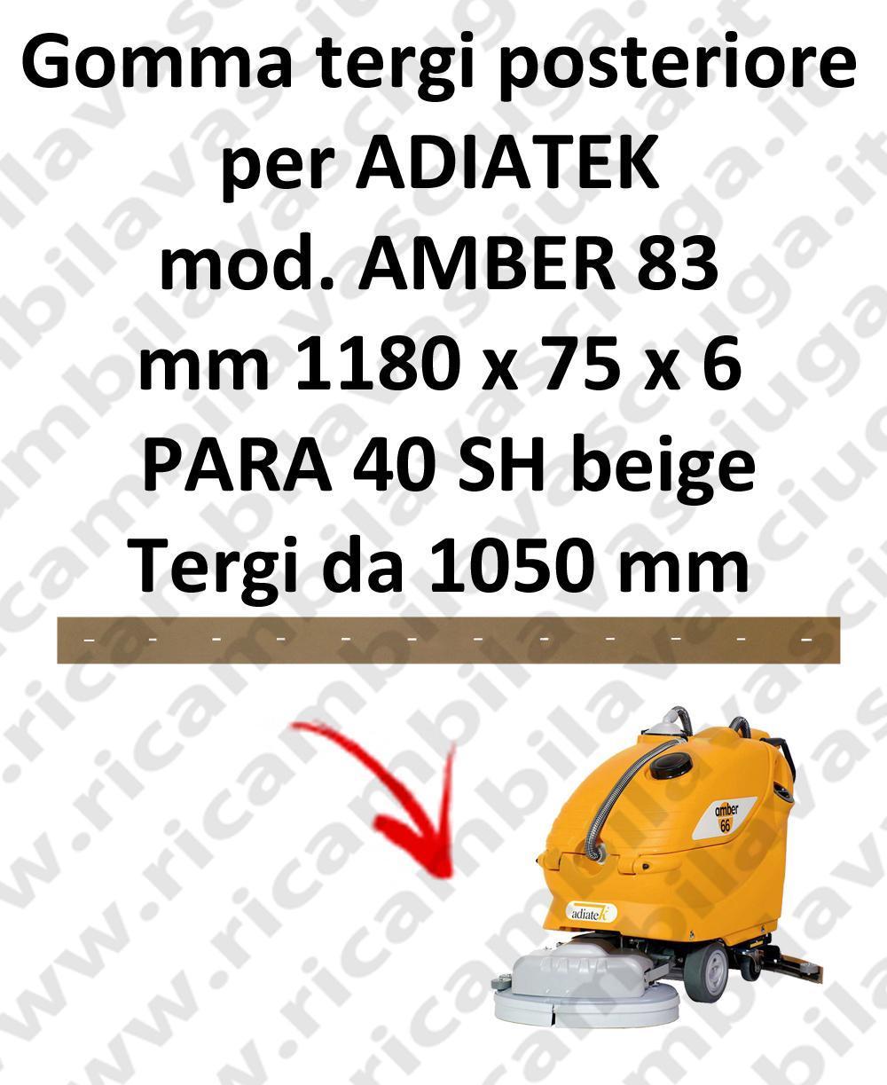 AMBER 83 goma de secado trasero para escobilla de goma ADIATEK (medir desde 1050 mm)