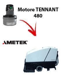 480 Motore de aspiración Ametek para fregadora TENNANT