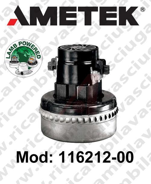Motore de aspiración Lamb Ametek 116212-00 para fregadora y aspiradora