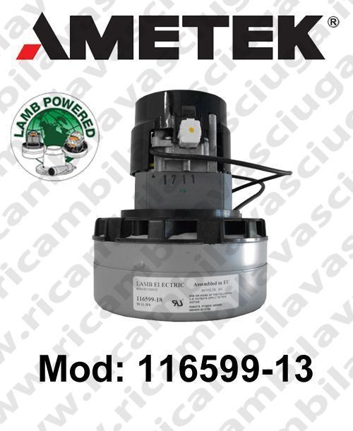 Motore de aspiración 116599-13 LAMB AMETEK para fregadora