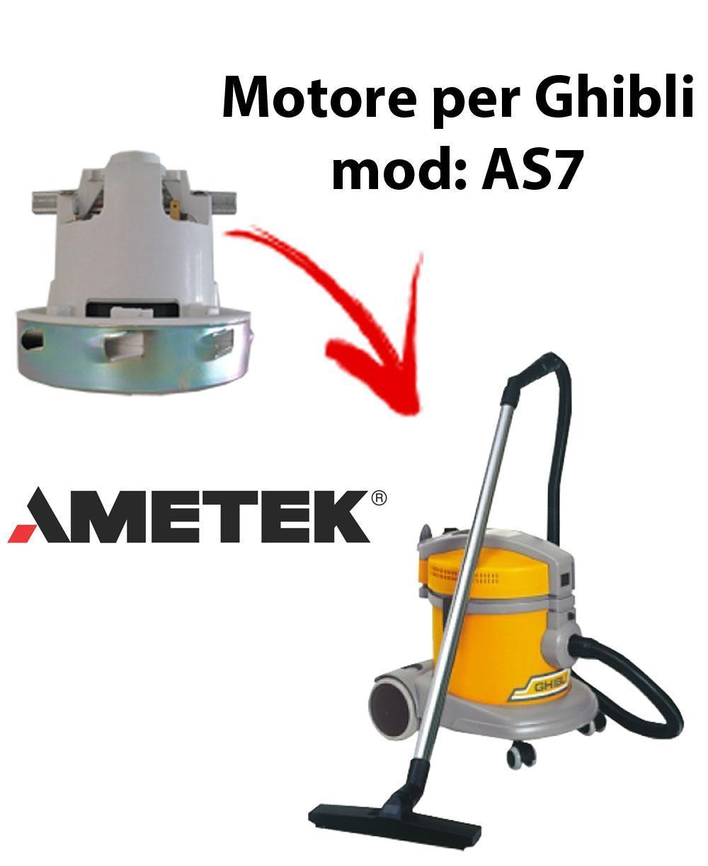 AS7  Motore de aspiración AMETEK ITALIA para aspiradora GHIBLI