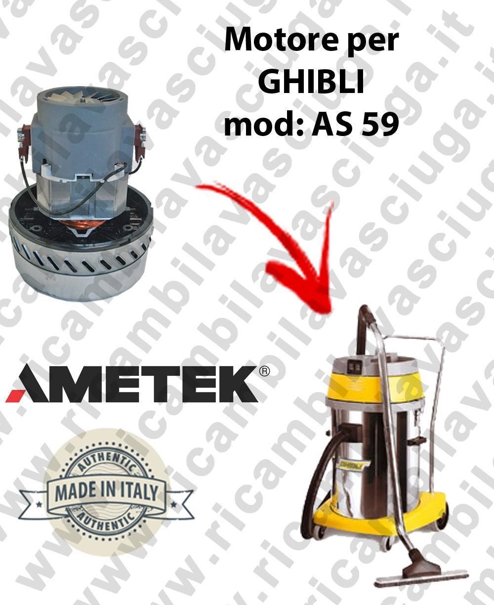 AS59  Motore de aspiración AMETEK para aspiradora y aspiradora húmeda GHIBLI