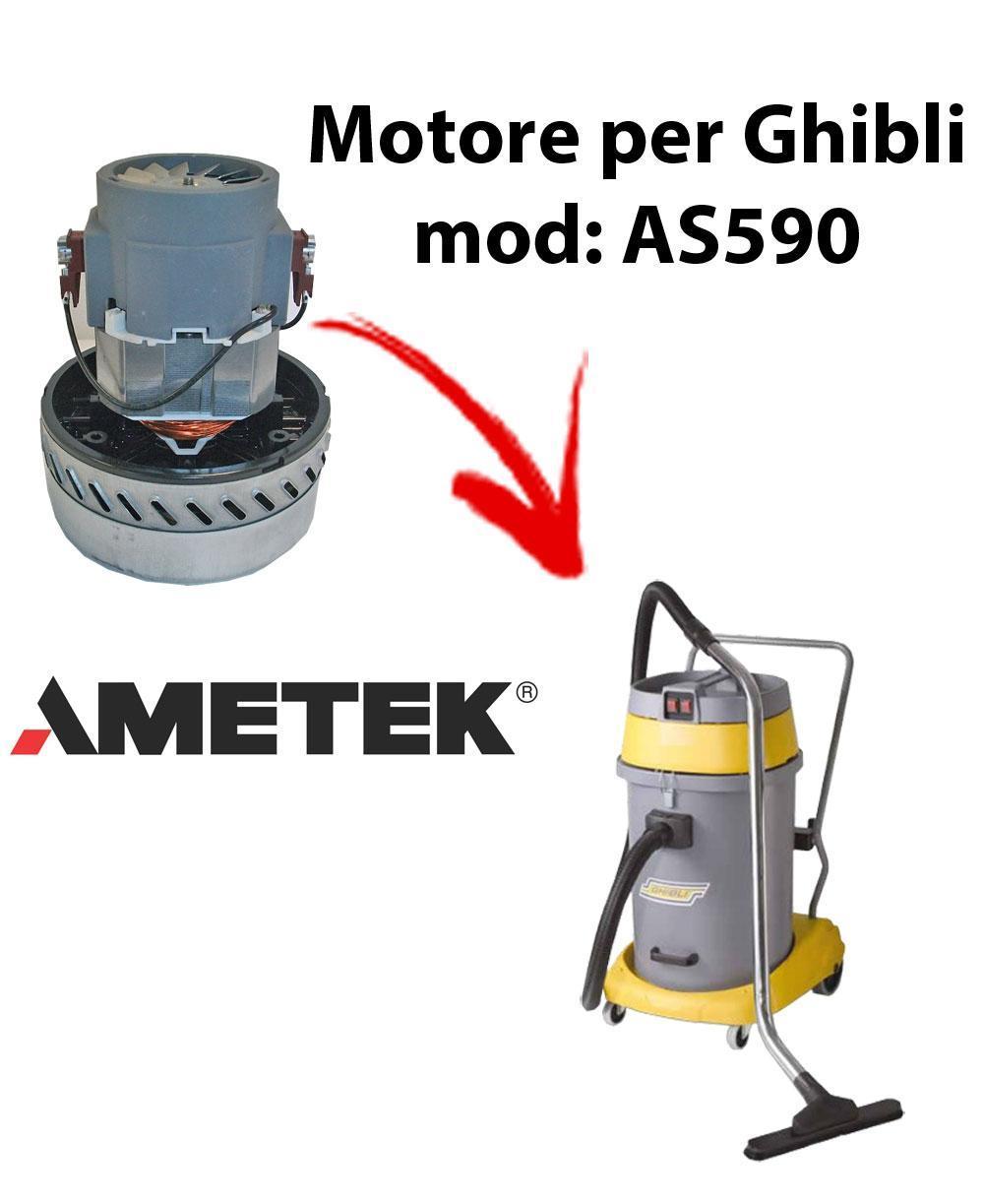 AS590  Motore de aspiración AMETEK para aspiradora y aspiradora húmeda GHIBLI