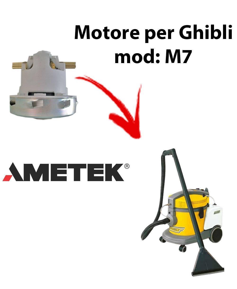 M7  Motore de aspiración AMETEK para aspiradora GHIBLI