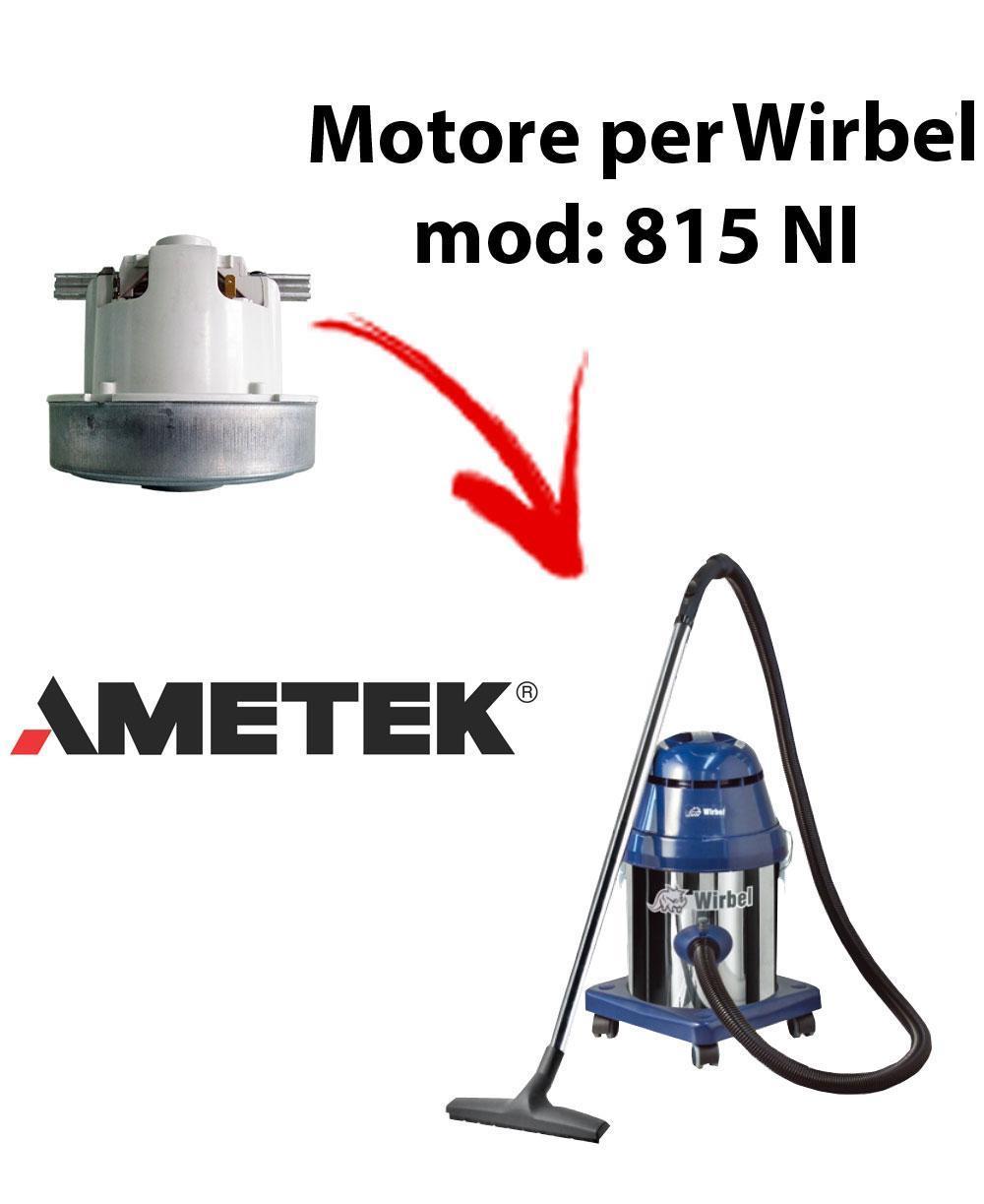 815 NI  Motore de aspiración AMETEK para aspiradora WIRBEL