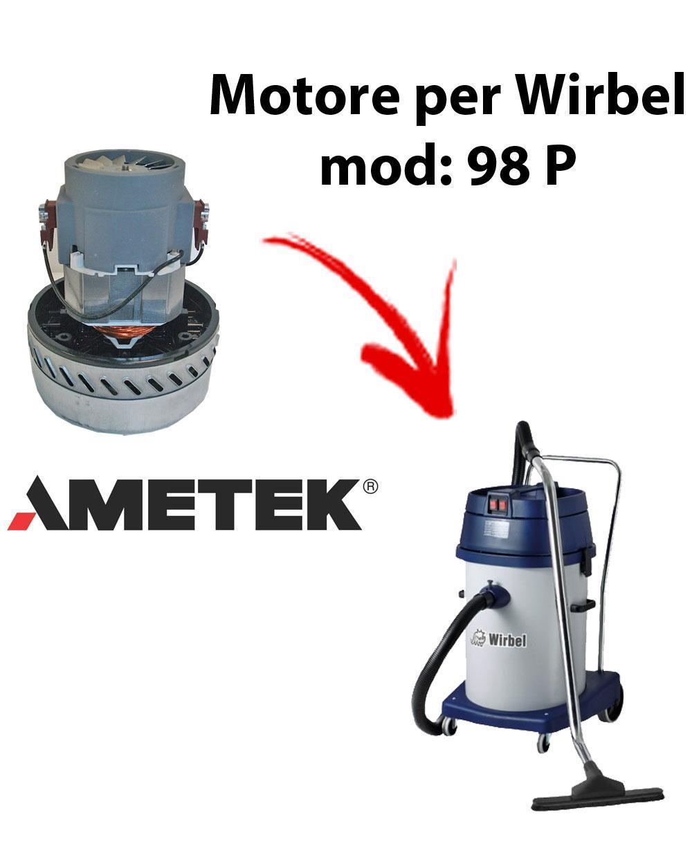 98 P Motore de aspiración AMETEK para aspiradora y aspiradora húmeda WIRBEL