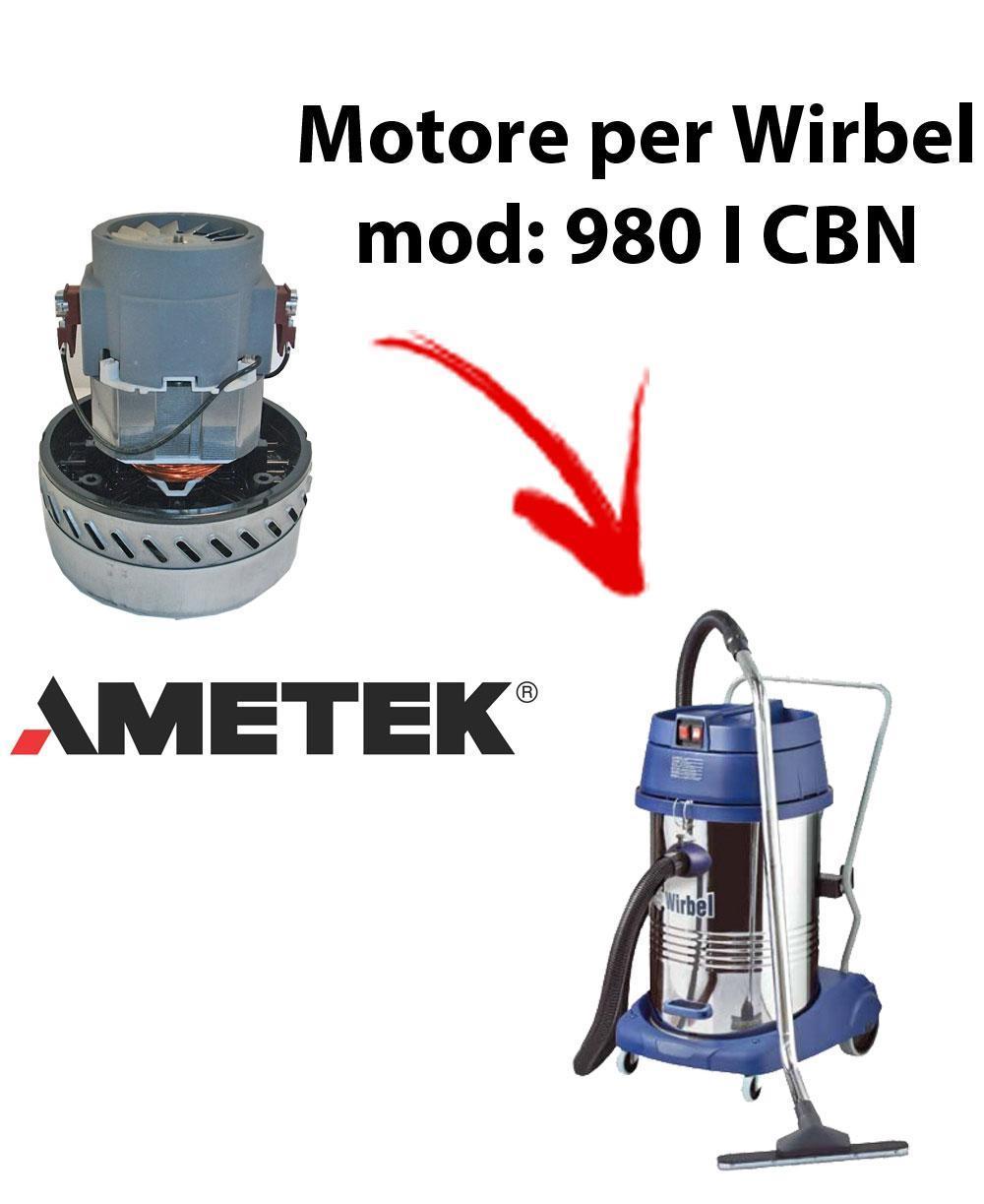 980 I CBN Motore de aspiración AMETEK para aspiradora y aspiradora húmeda WIRBEL