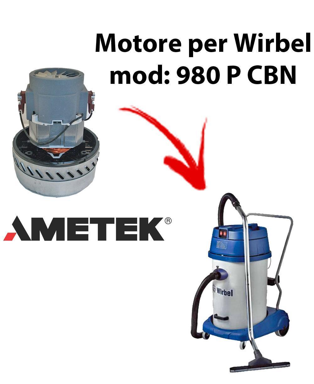 980 P CBN Motore de aspiración AMETEK para aspiradora y aspiradora húmeda WIRBEL