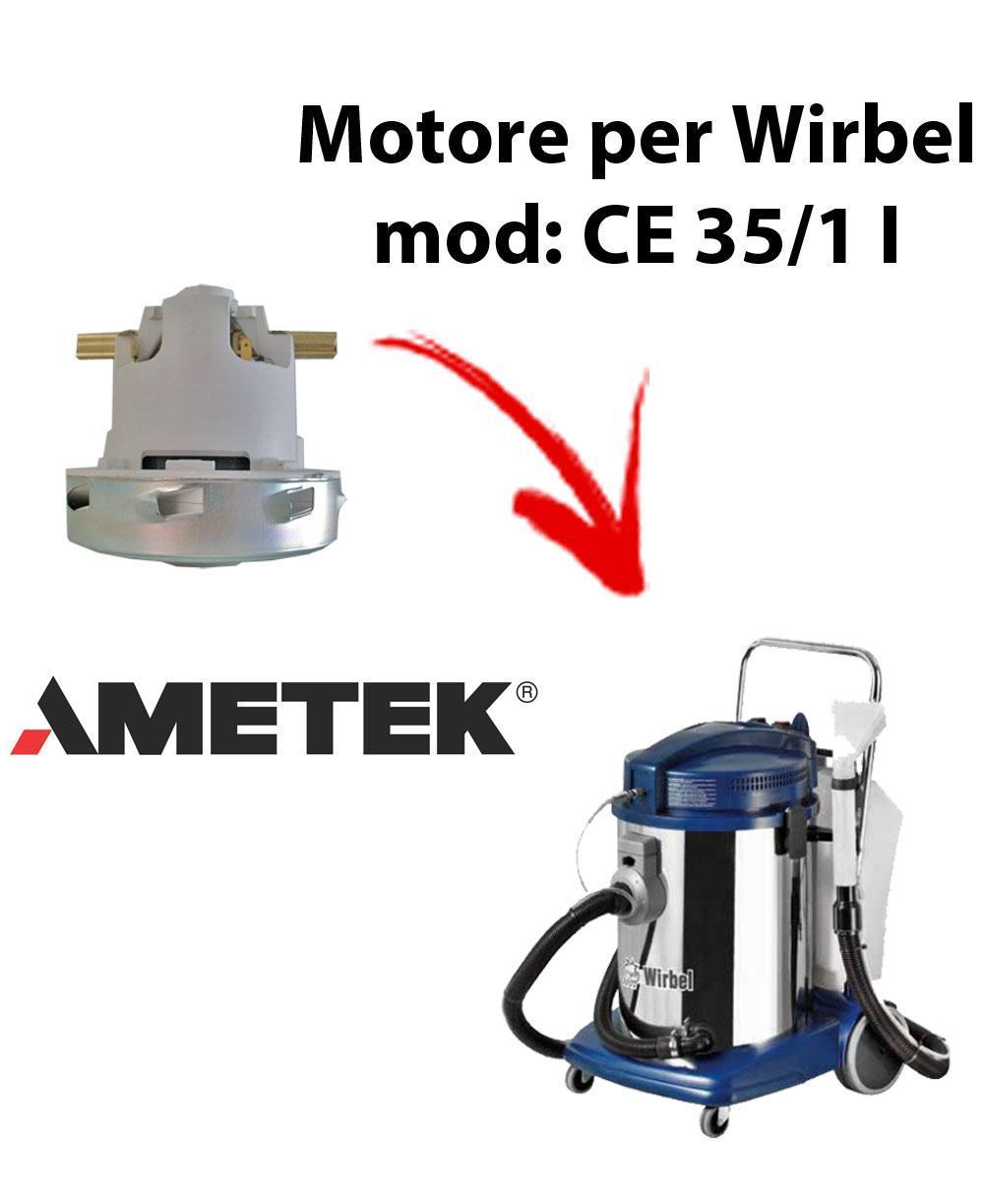 CE 35/1 I  Motore de aspiración AMETEK para aspiradora WIRBEL