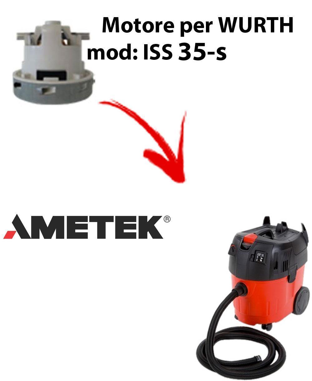 ISS 35-S automatic Motore de aspiración AMETEK para aspiradora WURTH