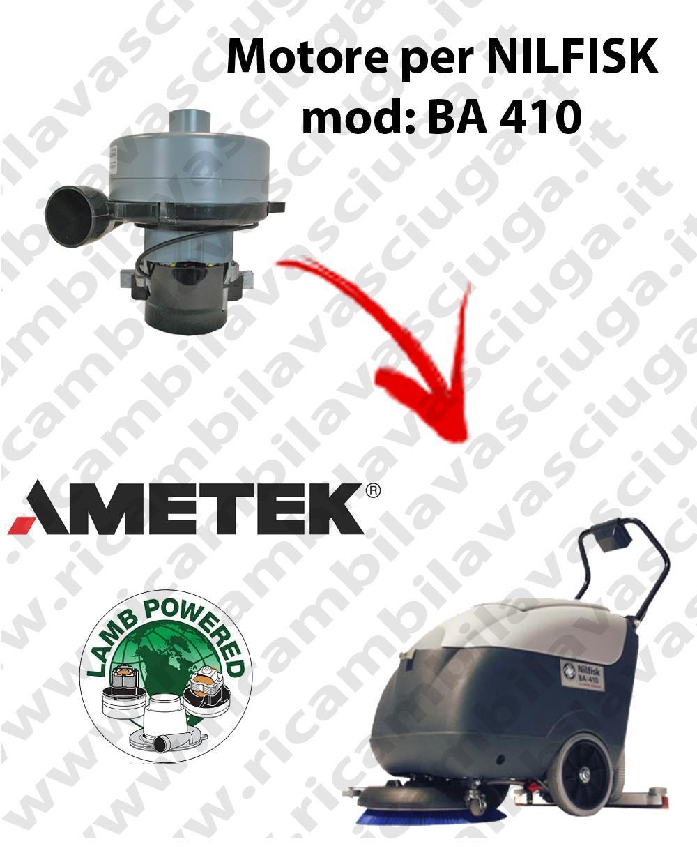 BA 410 Motore de aspiración LAMB AMETEK para fregadora NILFISK