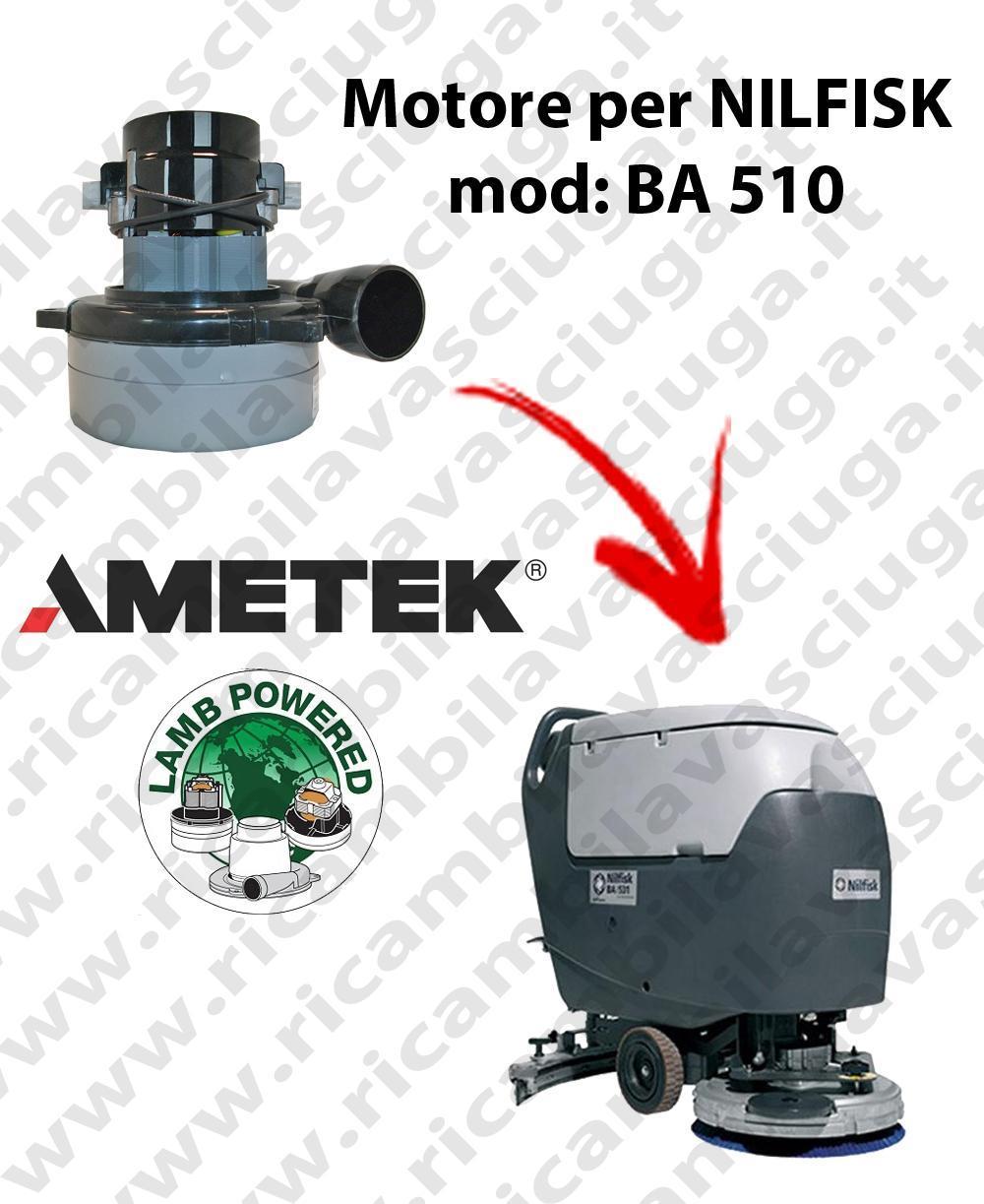 BA 510 Motore de aspiración LAMB AMETEK para fregadora NILFISK