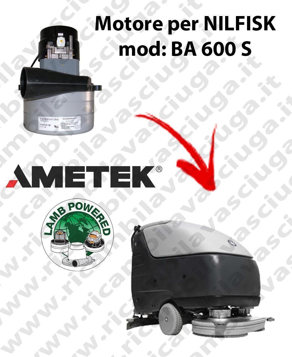 BA 600 S Motore de aspiración LAMB AMETEK para fregadora NILFISK