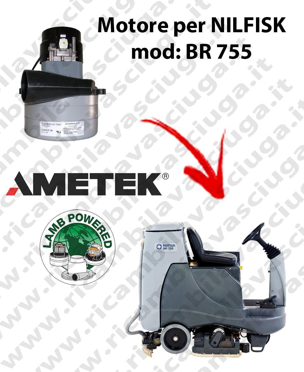 BR 755 Motore de aspiración LAMB AMETEK para fregadora NILFISK