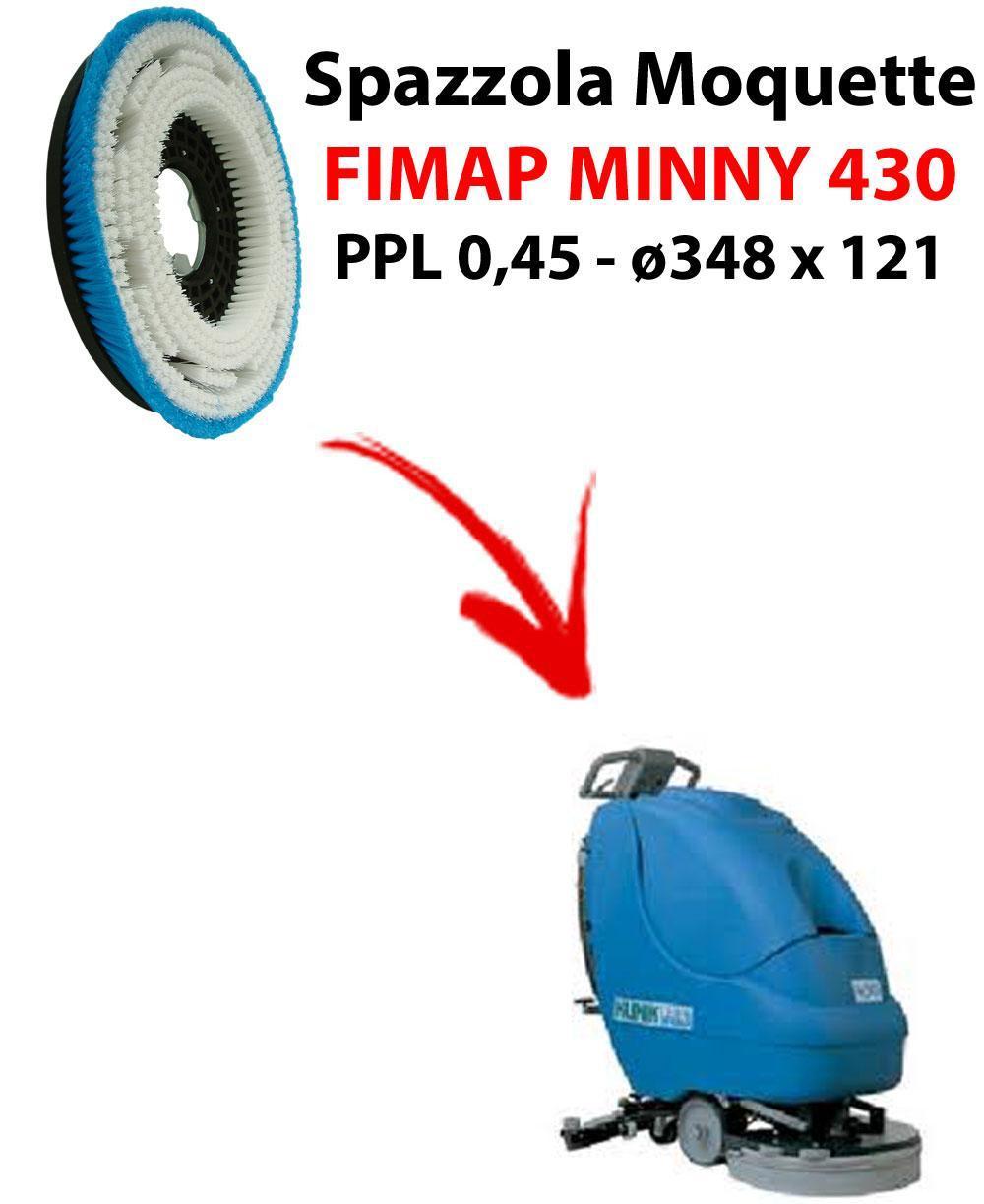 Cepillo MOQUETTE  para fregadora FIMAP MINNY 430. modelo: PPL 0,45 C/FLANGIA ø348 X 121.